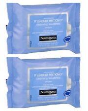2 paquetes de 25x Removedor de Maquillaje Neutrogena Toallitas compresas de limpieza de Ojos Facial Cara