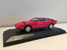 MASERATI KHAMSIN 1977 ROSSO 1:43 Minichamps Nuovo & Ovp 437123224