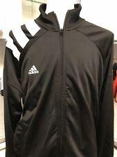 New$75 Adidas Mens Track Jacket Black 2XL