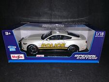 2015 Ford Mustang GT - Police. White. 1/18 Maisto Die-Cast.
