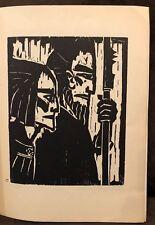 VINTAGE EMIL NOLDE WOODCUT PRINT 1947 ,RUDOLF HOFFMANN ,BLOCK 17, WARRIORS