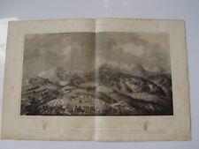 «Vista general del campamento y sierra de Bullones» 1860 litografia por P. Perez