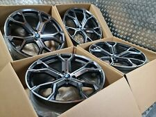 """BMW X5 X6 741M Style 21"""" Alloy Wheels M Sport F15 F16 E70 M50d 5x120 Staggered"""