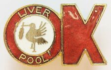 More details for liverpool - superb vintage enamel football pin badge by coffer ok style