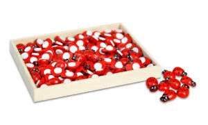 Coccinelle adesive 100 pz decorazione biglietti bomboniere laurea portafortuna