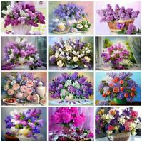 Diamond Painting Full Square Flowers Picture Of Rhinestones Diamond Embroidery