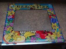 Queen Bee 8 Liner Video Arcade Video Game Monitor Bezel, Atlanta, (#129)