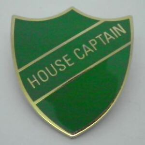 House Captain Enamel School Shield Badge - Green