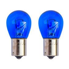 BA15S 382 P21W 1156 Super White Blue Glass DRL Halogen Bulbs