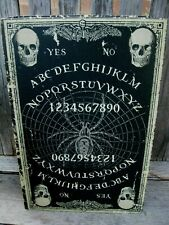 OUIJA BOARD FAUX HALLOWEEN BOOK SPIDER DISTRESSED Black Large Secret STASH BOX