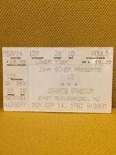 U2 Biglietto Concerto New Jersey giants stadium 14/09/1987 the joshua tree tour