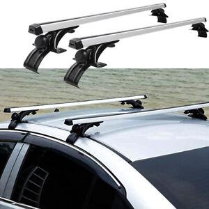 "48"" Aluminum Car Top Cross Bar Crossbar Roof Rack Universal For Cargo Luggage US"