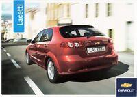 Prospekt / Brochure Chevrolet Lacetti 09/2005