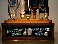 PALM TREES COLOR LED/'S /& REMOTE CTRL 18 BEER TAP HANDLE DISPLAY  Personalized