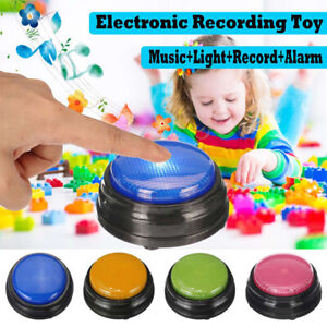 Squeeze LED Recordable Talking Sound Button Game Buzzer Interactive Toy Fun U4O3
