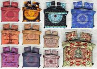 Hippie Indian Mandala Donna Duvet Cover Throw Queen Size Reversible Blanket Set