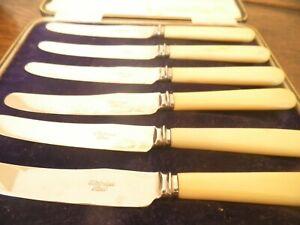 Set of vintage tea knives