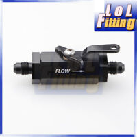 -8 AN AN 8 8 AN  Shut Off Valve Fitting Aluminum Black