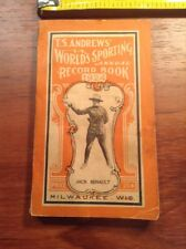 1924 TS Andrews' World's Sporting Annual Record Book Jack Renault Cover Boxer