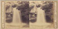 Cascade Da Jacob Savoia Monte Bianco Foto A. Braun Stereo Vintage Albumina c1860