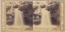 Cascade de Jacob Savoie Mont Blanc Photo A. Braun Stereo Vintage Albumine c1860