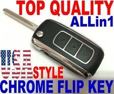 Chrome flip key remote for 06-14 Hyundai Genesis Coupe PINHAT008 keyless fob LCT