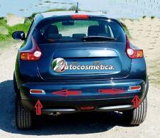 cornici in abs cromo Catarifrangenti paraurto posteriore per Nissan Juke 10-2013