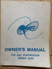New ListingArp 2600 Owner's Manual 1975 Original