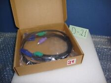 D-LINK DKVM-CB15 KVM Switch Cable 1.5M 5FT VGA Video Monitor PS2 Keyboard Mouse