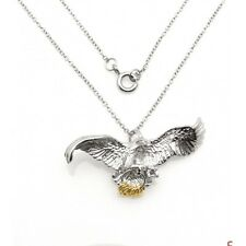Wish Rings Sterling Silver Eagle Pendant with Necklace
