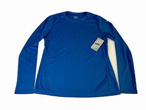 Asics Womens Blue Core Long Sleeve Athletic Shirt Size Large WR1164 NEW NWT