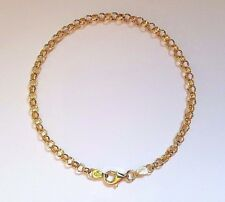NEW Genuine Authentic 9ct 9k Yellow Solid Gold Round Belcher Ladies Bracelet