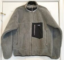 PATAGONIA RETRO-X JACKET MENS CLASSIC SIZE MEDIUM M GREY SHERPA FLEECE
