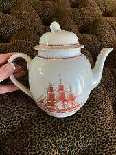 Wedgwood England FLYING CLOUD RUST 4 Cup Tea Pot Ann McKim 1833