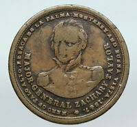 1847 UNITED STATES President ZACHARY TAYLOR Campaign OLD TOKEN MEDAL Coin i90636