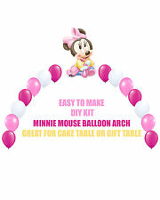 Baby Minnie Mouse Birthday Party BALLOON ARCH for Cake Table Gift Table Disney