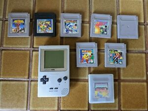 Nintendo Lot Pocket Style Gameboy in Gray with 8 games