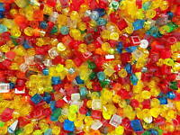 Lego lot of 500 Small Translucent pieces picked at random Mixed Colors 1x1s