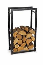 Kaminholzständer schwarz Metall 60 x 30 x 100 cm Kaminholzregal Brennholz Rack