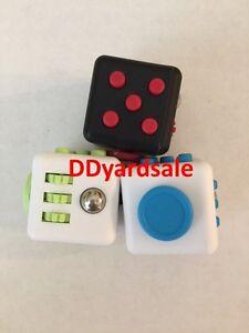Fidget Cube Bundle For Autism, ADHD, ADD 3-BUNDLE Red, Blue, Black USA Shipper