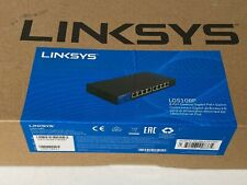 Linksys 8-Port Desktop Gigabit PoE Switch 2 Layer Supported Wall Mountable