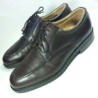NICE E.T. Wright Men's Oxford Shoes Brown Leather ITALY MADE Soft Gumsole-10 D
