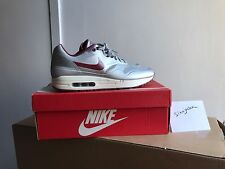 Nike Air Max 1 Hyperfuse Quickstrike Size 10.5 633087 006 (Silver / Deep Red)