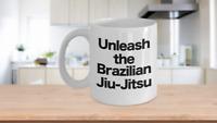 Brazilian Jiu Jitsu Mug White Coffee Cup Funny Gift for BJJ Fighter MMA Martial
