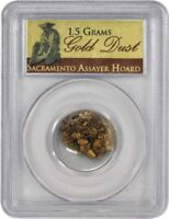 Sacramento Assayer Hoard 1.5 Grams Pinch Of Gold Dust PCGS Authenticated