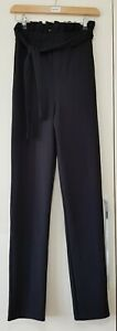 Flounce Club London Tall Trousers Size 8 Black Cigarette Smart Work New with tag