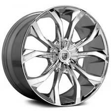 """4ea 18"""" Lexani Wheels Lust Chrome Rims (S45)"""
