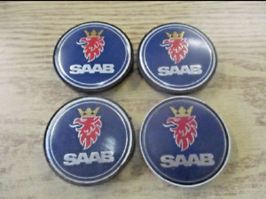 Factory original Saab 900 9000 alloy wheel center caps hubcaps