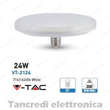 Lampadina led V-TAC 24W = 160W E27 bianco freddo 6400K VT-2124 ufo disco F200