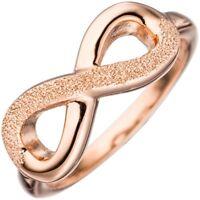 Ring Damenring, Unendlichkeit Ziffer Acht 8, 925 Silber rotvergoldet Silberring